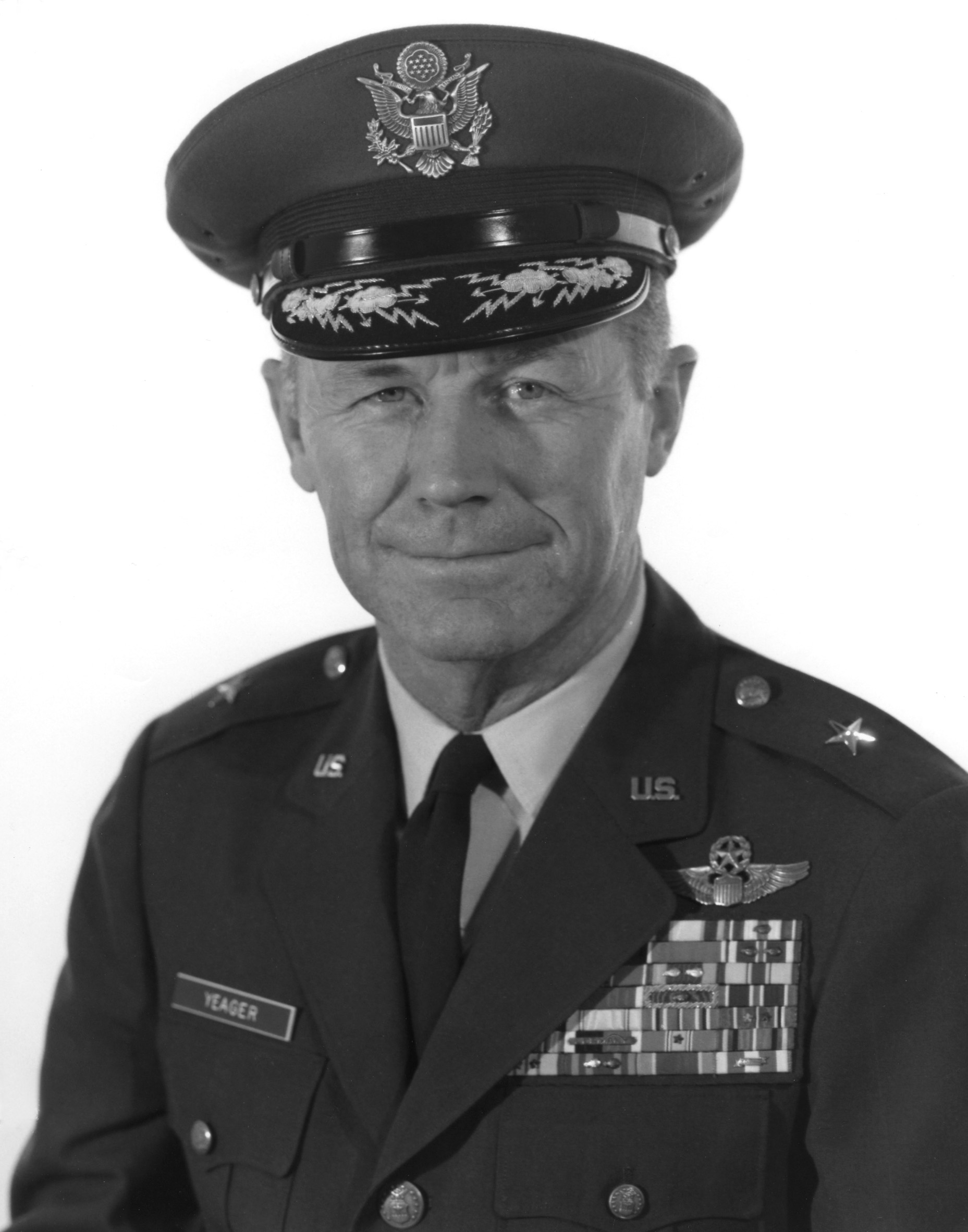 a biography of general chuck yeager Captain chuck yeager with the x-1 supersonic research aircraft in 1947, shortly after breaking the sound barrier charles elwood yeager was born in 1923 in myra, west virginia and grew up in the nearby village of hamlin.